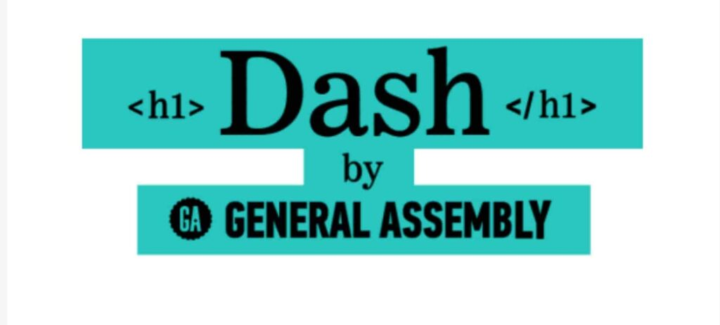 General Assembly is dash website to learn coding 2021